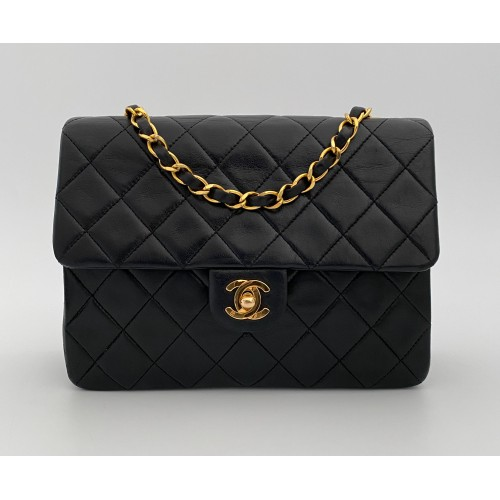 Chanel half flap black...