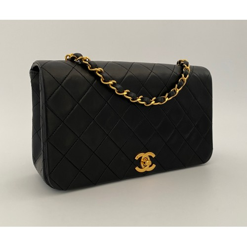 Chanel black leather...