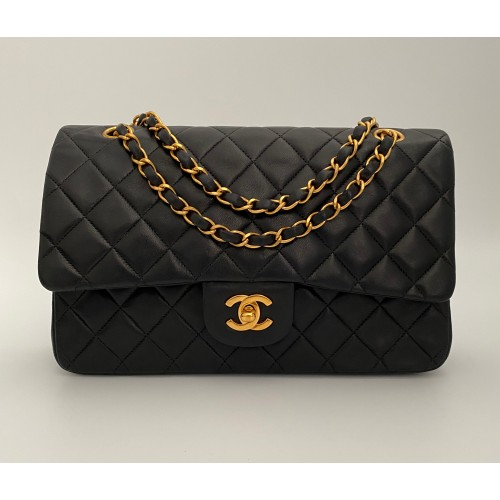 Chanel Timeless 25 double flap black...