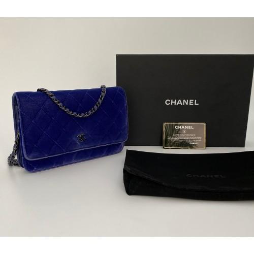Chanel WOC velvet blue