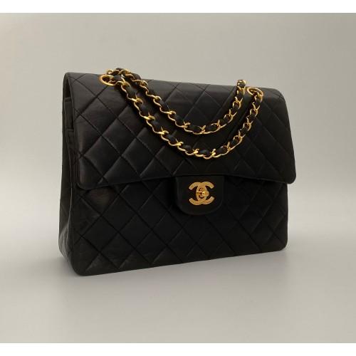 Chanel double flap bag black vintage...