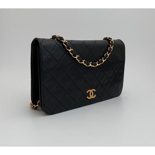 Chanel flap bag black...