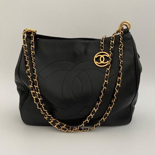 Chanel tote bag black vintage