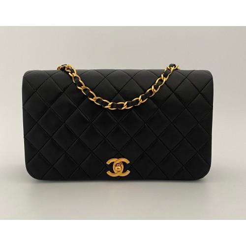 Chanel black leather vintage